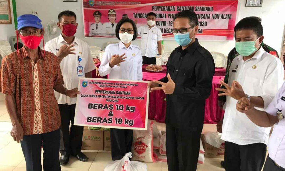 Bupati dan Wabup Bolmong Serahkan Bantuan Tahap Empat di Wilayah Dumoga Bersatu Berita Bolmong